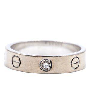 18k 750 Rare 1p Diamond 3.5mm Size 50 5.55 Ring